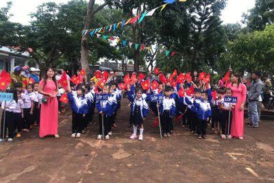 ngày 5/9/2019 trường TH Mạc Thị Bưởi tổ chức Lễ Khai giảng năm học 2019 – 2020