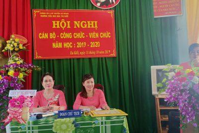 Ngày 11/10/2019 trường TH Mạc Thị Bưởi tổ chức Hội nghị công chức – viên chức năm học 2019 – 2020